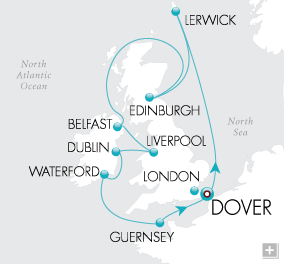 LuxuryCruises - Emerald Isles Map