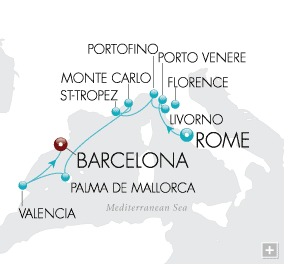 CRUISES - Balconies/Suites Connoisseur's Collection Map