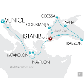 LuxuryCruises - Beyond the Bosporus Map