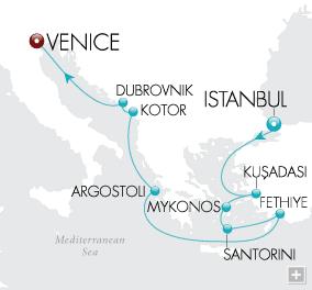 Luxury Cruises - Empires & Odysseys Map