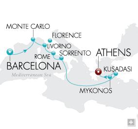 Luxury Cruise - Gaudi & The Gods Map