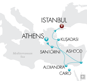 Luxury Cruise - Epicurean Discoveries Map