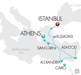 LuxuryCruises - Epicurean Discoveries Map