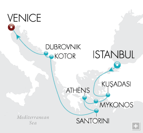 LuxuryCruises - Aegean Dreams Map