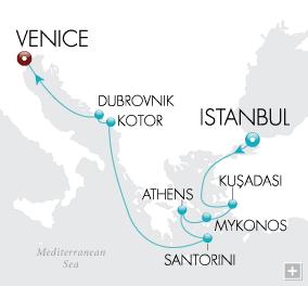 Luxury Cruises - Aegean Dreams Map