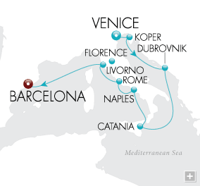 Luxury Cruises - Italian Splendor Map