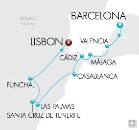LuxuryCruises - Iberian Adventure Map