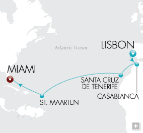 Luxury Cruises - Across a Southern Sea Map