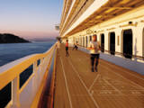 Promenade Deck - Walking is the number one exercise in the world, and walking along a 360-degree teak deck surrounded by breathtaking vistas witnessed only at sea, is to truly experience one of the greatest privileges of ocean travel. - Deluxe Cruises 2017-2018-2019-2020