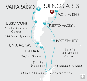 Single Balconies/Suites Antarctic Discovery Map