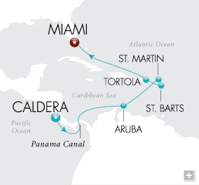 CRUISES - Balconies/Suites Tropical Trade Winds Map