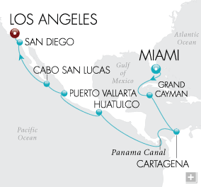 Luxury Cruise - Tale of Two Seas Map