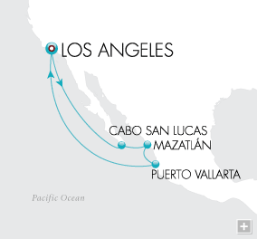 7 Seas Luxury Cruises Pacific Siesta Map