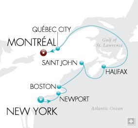Luxury Cruise - Cosmopolitan Harbors Map
