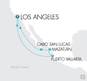 Croisieres de luxe tout-inclus Mexican Serenade Map