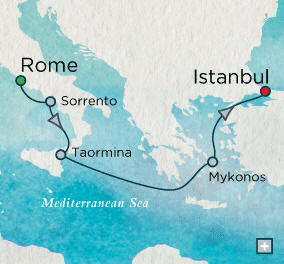 Rome (Civitavecchia), Italy to Istanbul, Turkey - 7 Days Crystal Cruises Serenity 2014