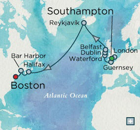 London (Southampton), England to Boston, MA - 14 Days Crystal Luxury Cruises Serenity 2020