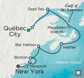 Quebec City, QC, Canada to New York (Manhattan), NY - 10 Days Crystal Luxury Cruises Serenity 2023
