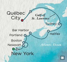 New York (Manhattan), NY to Quebec City, QC, Canada - 10 Days Crystal Luxury Cruises Serenity 2023