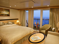 Cunard Cruise Line QE, QM, QV, Queen Victoria, Queen Mary 2, Queen Elizabeth Princess Suite Category P1 - Deluxe Cruises