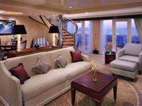 Deluxe Cruises Cunard Cruise Line QE, QM, QV, Queen Victoria, Queen Mary 2, Queen Elizabeth Duplex Apartment Category Q2 - Deluxe Cruises