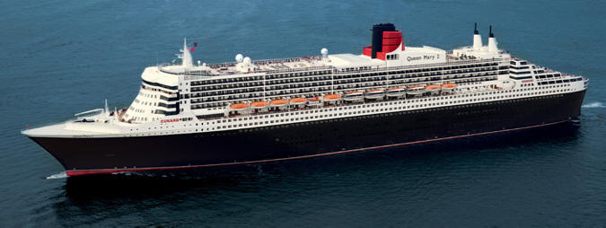 World CRUISE SHIP BIDS - Cunard CRUISE SHIP - Queen Mary 2 QM2 2023