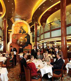 7 Seas LUXURY Cruise Cunard Cruise Queen Mary 2 qm 2 Britannia Restaurant