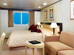 7 Seas LUXURY Cruise Cunard Cruise Queen Mary 2 qm 2 C2 Britannia Outside Stateroom