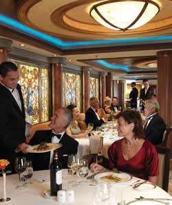 Single-Solo Balconies/Suites Cunard Cruise Queen Mary 2 qm 2 Queens Grill Restaurant