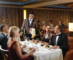Luxury Cunnard Queen Mary 2 qm 2 Princess Grill restauranttttttt