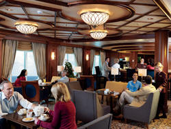Single-Solo Balconies/Suites Cunard Cruise Queen Mary 2 qm 2 Cafe Carinthia