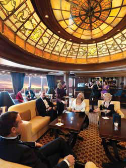 Single-Solo Balconies/Suites Cunard Cruise Queen Mary 2 qm 2 Grills Lounge