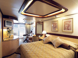 Single-Solo Balconies/Suites Cunard Cruise Queen Mary 2 qm 2 P1 Princess Grill Suite