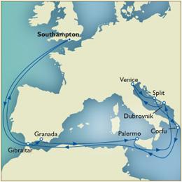 7 Seas Cruises Luxury Map