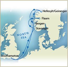 Map - Southampton to Southampton