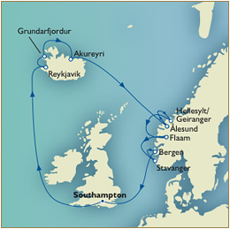 QV Cunard Queen Victoria Southampton to Southampton