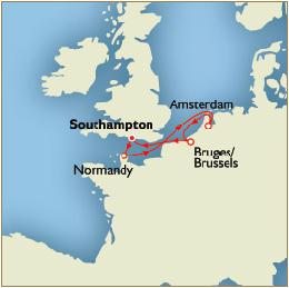 Deals - Map - Southampton to Southampton
