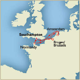 Informations Map - Southampton to Southampton