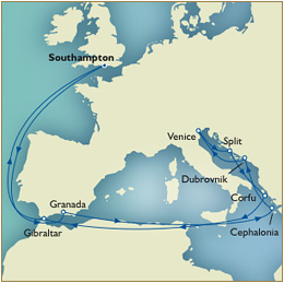 7 Seas Cruises Luxury Southampton to Southampton Queen Victoria
