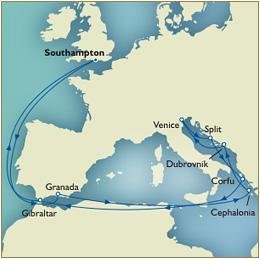 CUNARD QUEEN VICTORIA QV Cunard Southampton to Southampton Queen Victoria