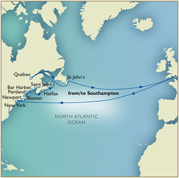 7 Seas LUXURY Cruise Southampton to Southampton Quebec