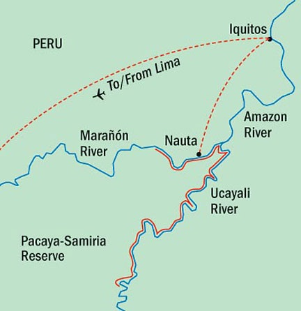 Lindblad Expeditions Cruises Delfin 2 Map Detail Lima, Peru to Lima, Peru October 29 November 7 2022 - 10 Days