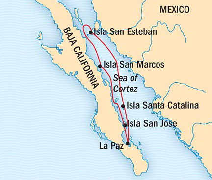 Singles Cruise - Balconies-Suites Lindblad National Geographic NG CRUISES Sea Bird April 11-18 2015 La Paz, Mexico to La Paz, Mexico