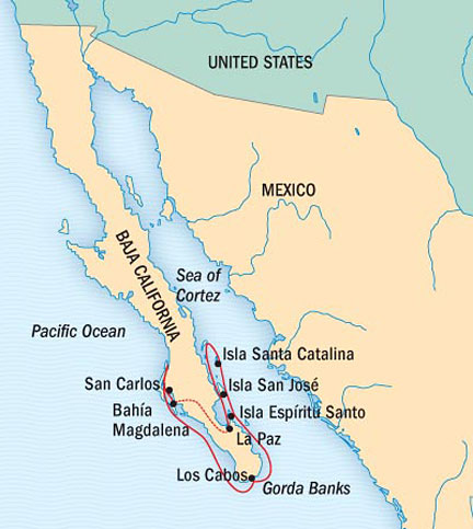 SINGLE Cruise - Balconies-Suites Lindblad National Geographic NG CRUISE Sea Bird February 14-21 2015 La Paz, Mexico to San Carlos, Mexico