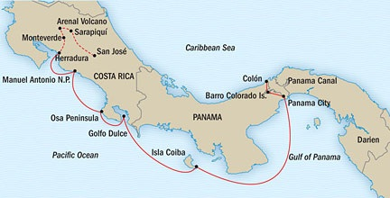 SINGLE Cruise - Balconies-Suites Lindblad National Geographic NG CRUISE Sea Lion February 28 March 14 2015 Panama City, Panama to San Jose, Costa Rica