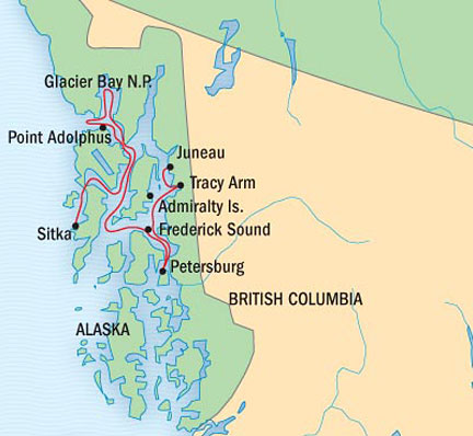 SINGLE Cruise - Balconies-Suites Lindblad National Geographic NG CRUISE Sea Lion July 12-19 2015 Sitka, AK, United States to Mendenhall Glacier, AK, United States