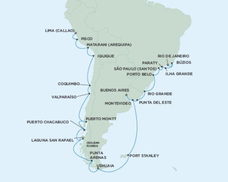 Cruises Seven Seas Mariner March 2 April 2 2015 - 31 Days