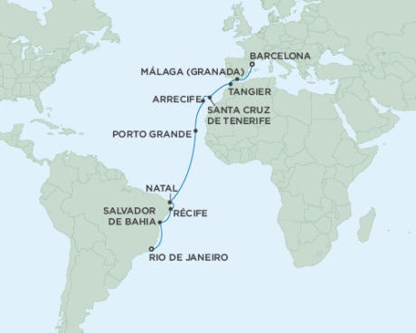 LUXURY CRUISES - Balconies and Suites Cruises Seven Seas Mariner April 2-20 2018 - 18 Days