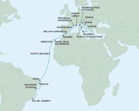 World CRUISE SHIP BIDS Seven Seas Mariner April 2-30 2023 - 28 Days