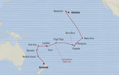 Singles Cruise - Balconies-Suites Oceania Insignia January 28 February 22 2020 Cruises Honolulu, HI, United States to Auckland, New Zealand
